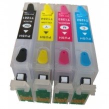 Refill Epson T1285 cartridges + Autoreset chip