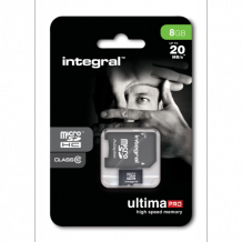 8GB Integral MicroSDHC card Class 10 UltimaPro (20MB/s)
